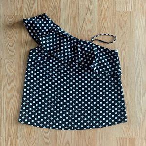 Asymmetrical polka dot top